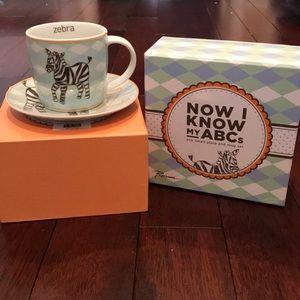 """""""Z"""" Zebra plate and mug set"""
